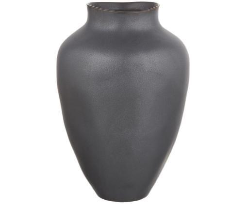 Vase Latona, Keramik, Schwarz, matt, Ø 21 x H 30 cm