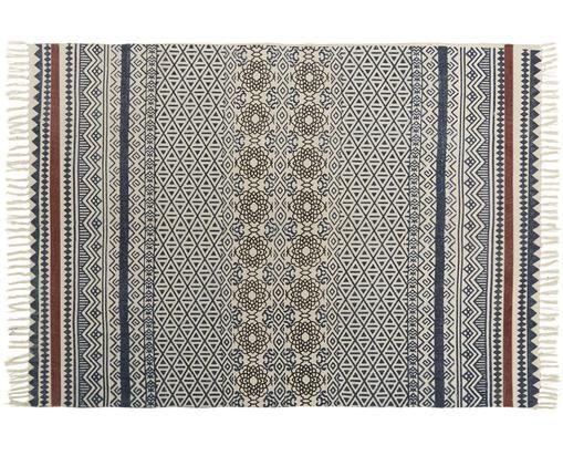 Dywan Gunnar, Bawełna, Niebieski, czerwony, kremowy, czarny, S 140 x D 200 cm