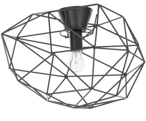 Plafondlamp Diamond, Gelakt messing, Zwart, Ø 50 x H 32 cm
