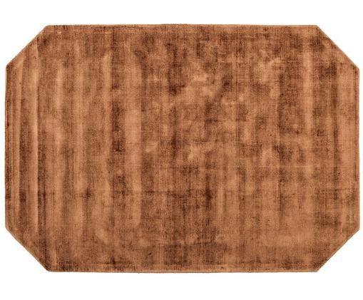 Tappeto in viscosa Jane Diamond, Colori caramellati