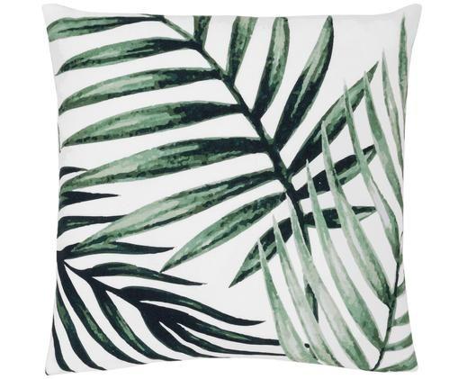 Funda de cojín Coast, 100%algodón, Verde, blanco, An 40 x L 40 cm