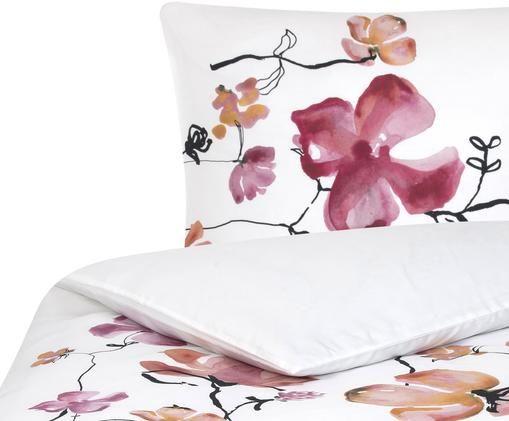 Baumwollsatin-Bettwäsche Fiori mit Blumen-Muster