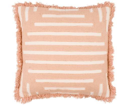 Cuscino Ayana, Rivestimento: cotone, Terracotta, crema, P 45 x L 45 cm
