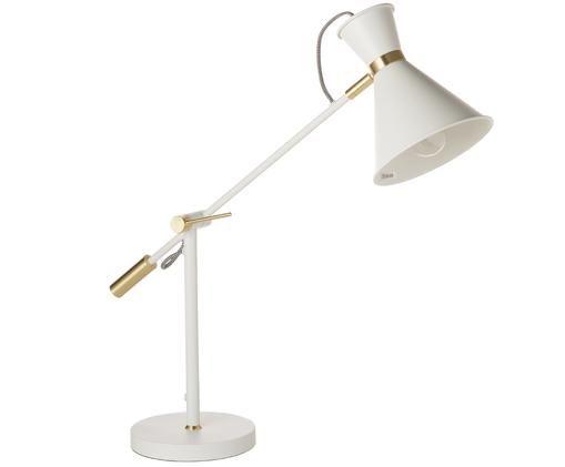Lampa stołowa Audrey, Biały