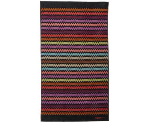 Strandtuch Warner, Webart: Velours-Frottee, Mehrfarbig, 100 x 180 cm