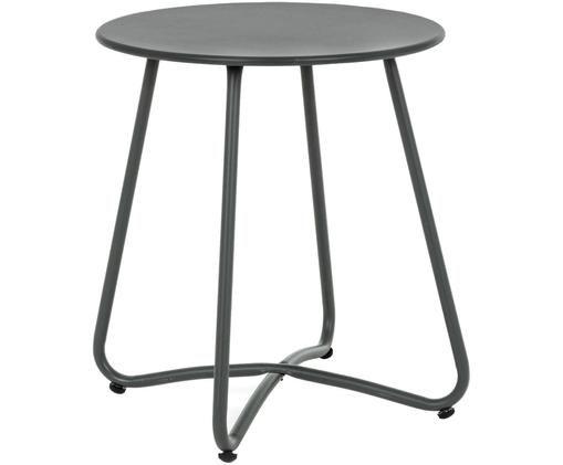 Bijzettafel Wissant, Gepoedercoat staal, Donkergrijs, Ø 40 x H 45 cm