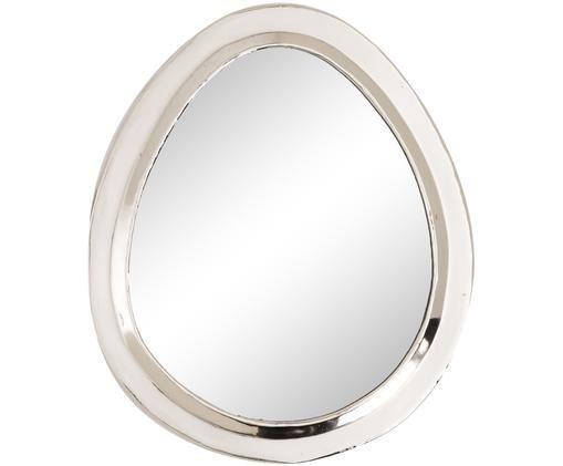 Specchio da parete artigianale  Egg, Argento