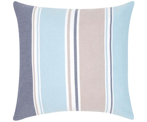 Federa arredo a strisce Linea, Cotone, Multicolore, Larg. 50 x Lung. 50 cm