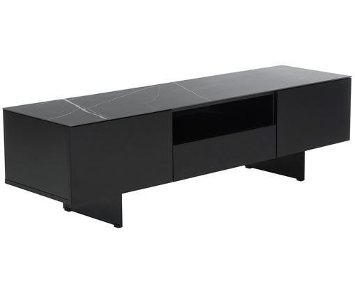 Mueble de TV Fione, con tablero en efecto mármol