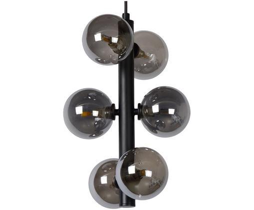 Glaskugel-Pendelleuchte Tycho für Stimmungslicht, Schwarz, Dunkelgrau, Ø 26 x H 38 cm