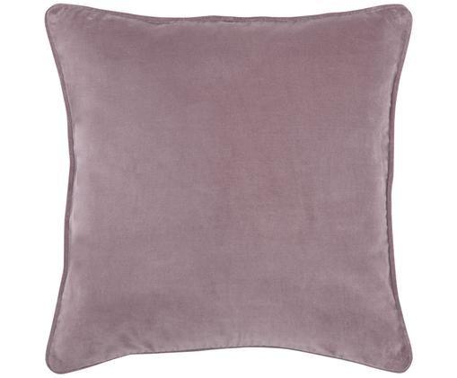 Poszewka na poduszkę z aksamitu Dana, 100% aksamit bawełniany, Brudny różowy, S 40 x D 40 cm