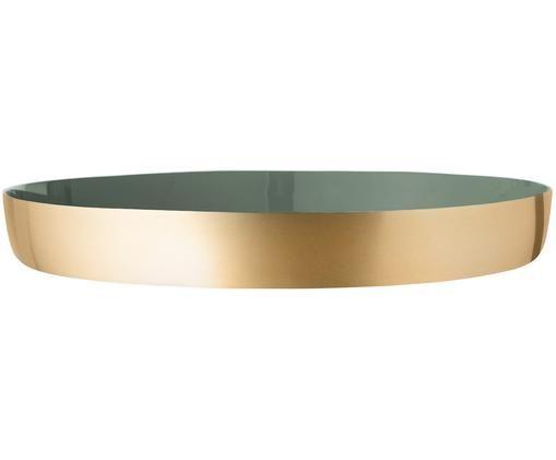 Plateau décoratif Clara, Intérieur: vert Extérieur: couleur dorée