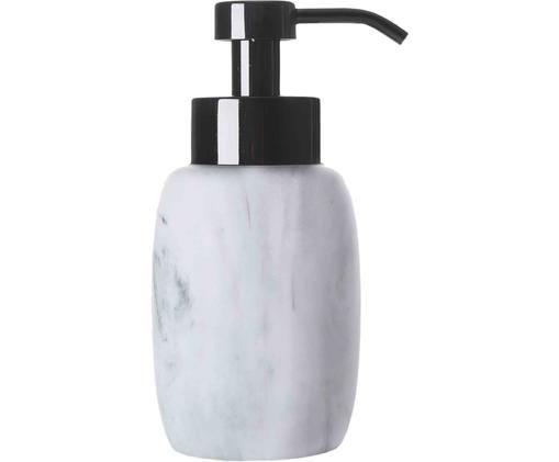 Seifenspender Marblis, Behälter: Polyresin, Pumpkopf: Rostfreier Stahl, lackier, Weiß, Ø 7 x H 18 cm