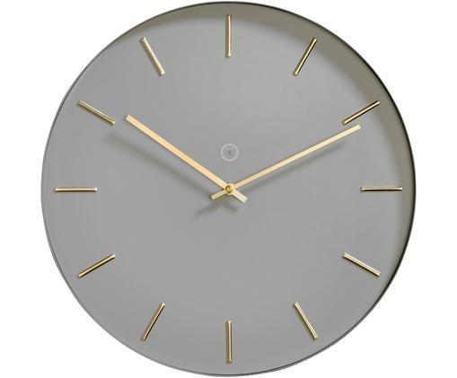 Orologio da parete Helsinki, Metallo verniciato, Grigio ottonato, Ø 40 cm