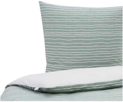 Flanell-Bettwäsche Luton mit Linien, Webart: Flanell, Jadegrün, 135 x 200 cm