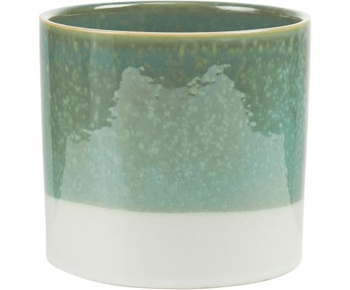 Portavaso Early Spring, Gres, Verde, bianco, Ø 14 x Alt. 13 cm