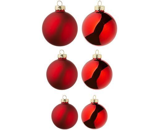 Set palline di Natale Nessa, 26 pz., Rosso
