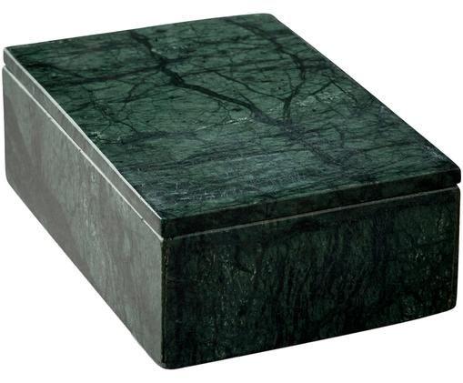 Marmor-Aufbewahrungsdose Lone, Grün, marmoriert