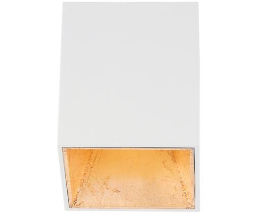 Faretto da soffitto Marty, Bianco, dorato, Larg. 10 x Alt. 12 cm