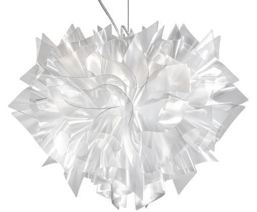 Lampada a sospensione fatta a mano Veli, Tecnopolimero Lentiflex®, luce distorsivo, flessibile, Trasparente, Ø 42 x Alt. 36 cm