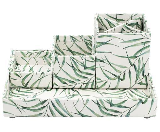 Büro-Organizer Breeze, Fester, laminierter Karton, Weiß, Grün, Sondergrößen