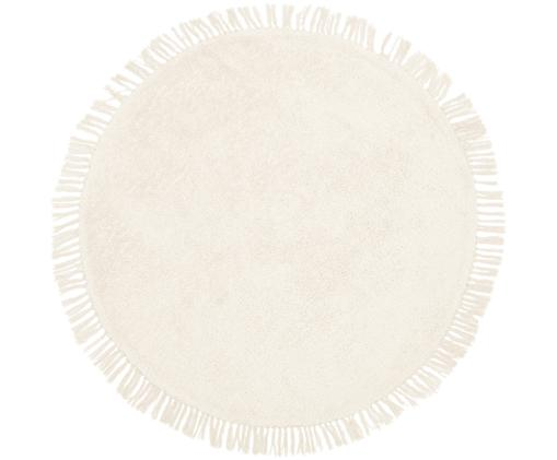 Tappeto rotondo in cotone taftato a mano Daya, Beige, Ø 110 cm