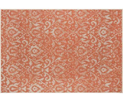 In- und Outdoorteppich Hatta im Vintage Look, Polypropylen, Orangenrot, Beige, B 160 x L 230 cm (Größe M)