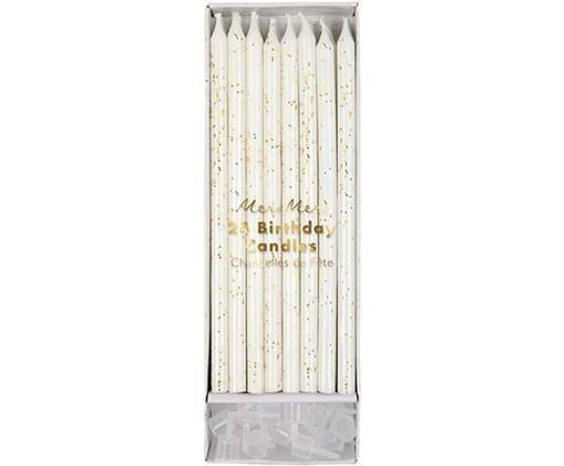 Ensemble de bougies d'anniversaire Fete, 48élém., Blanc, couleur dorée