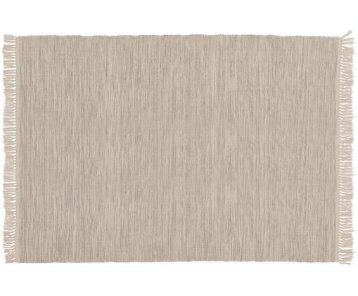 Tappeto in cotone Dag, Cotone, Grigio pietra, Larg. 140 x Lung. 200 cm (taglia S)