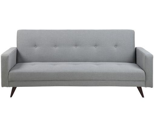 Schlafsofa Leconi (3-Sitzer), Bezug: Hellgrau Beine: Dunkelbraun