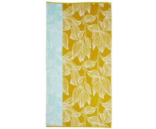 Ręcznik plażowy Mimosa, Żółty, jasny niebieski