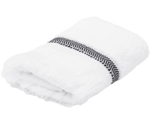 Serviette de toilette Brina, Blanc/noir