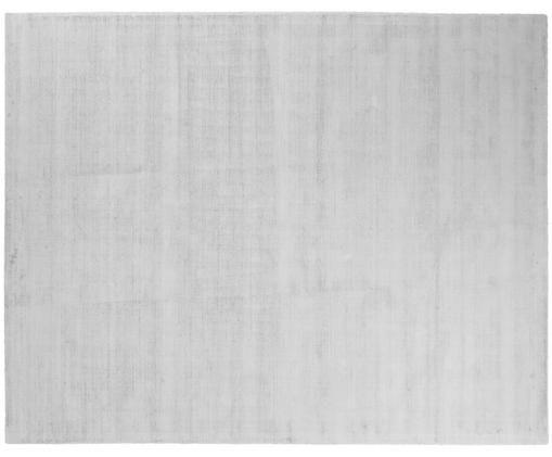 Handgewebter Viskoseteppich Jane, Flor: 100% Viskose, Silbergrau, B 400 x L 500 cm (Größe XXL)