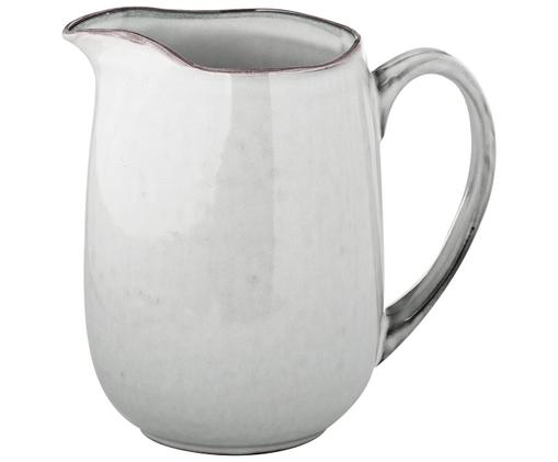 Handgemachter Milchkrug Nordic Sand, Steingut, Sand, 17 x 16 cm