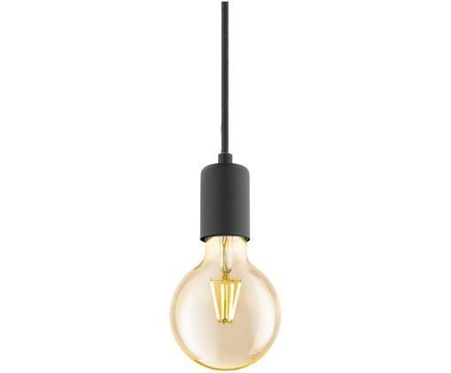 Suspension ampoule nue Trey, Noir, mat