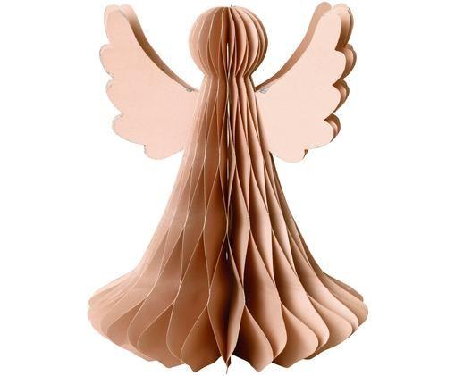Angelo di Natale in carta Angel, Rosa cipria