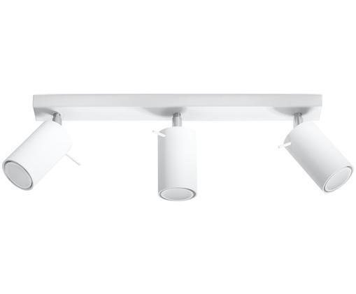 Deckenstrahler Etna in Weiß, Stahl, lackiert, Weiß, 45 x 15 cm