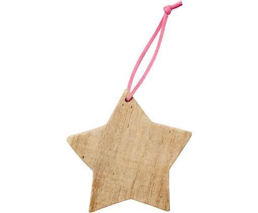Baumanhänger Star, 2 Stück, Treibholz, Treibholz, H 10 cm