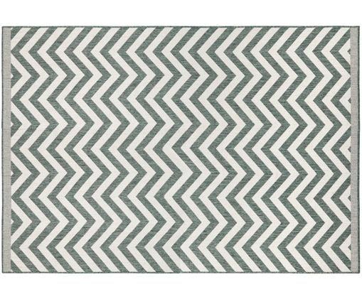 Tappeto reversibile per interni ed esterni Palma, Verde, crema
