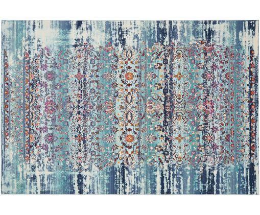 Alfombra de pelo bajo Kashan, Polipropileno, Azul, multicolor, An 120 x L 180 cm