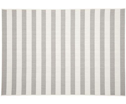 Alfombra de interior/exterior Axa, Parte superior: polipropileno, Reverso: poliéster, Blanco crema, gris, An 200 x L 290 cm (Tamaño L)