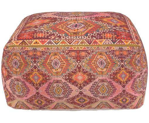 Puf etno Tarso, Tapicerka: bawełna, Czerwony, blady różowy, pomarańczowy, beżowy, S 60 x W 30 cm
