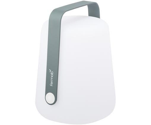 Mobile LED Außenleuchte Balad, Lampenschirm: Polyethylen, für den Auße, Griff: Aluminium, lackiert, Gewittergrau, Ø 28 x H 38 cm
