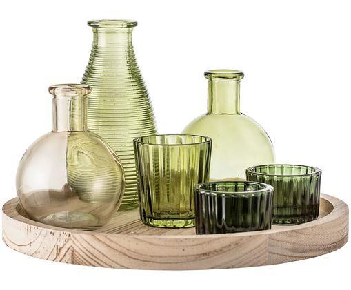 Ensemble de photophores et de vases Wiegand, 7élém., Tons verts, brun clair