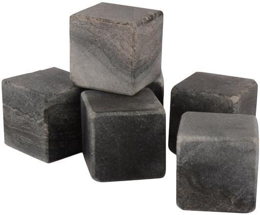 Pierres à whisky en marbre Ice Cube, 6pièces, Gris, marbré