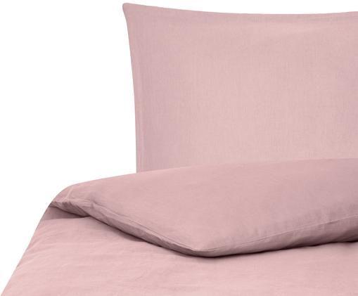 Gewaschene Leinen-Bettwäsche Breeze in Altrosa, 52% Leinen, 48% Baumwolle Mit Stonewash-Effekt, Altrosa, 135 x 200 cm