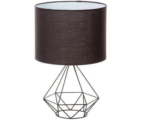 Lampa stołowa Agata, Klosz: czarny<br>Podstawa lampy: czarny<br>Kabel: czarny, biały, Ø 25 x 40 cm