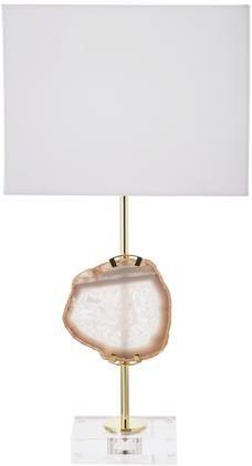 Große Glam-Tischlampe Treasure mit Achat-Dekor