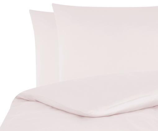 Pościel z satyny bawełnianej Comfort, Blady różowy, 200 x 200 cm