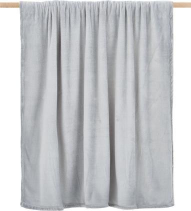 Weiches Fleece-Plaid Doudou in Grau